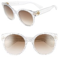 Gucci 54mm Glitter Sunglasses | Nordstrom
