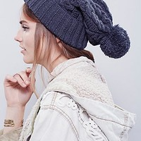 Womens Fireside Cable Knit Beani