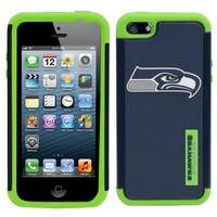 Seattle Seahawks Dual Hybrid 2-Piece iPhone 5 Cover