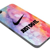 DCD - Nike Air Logo Just Do It Colorful Custom Case for Iphone 4 4s 5 5c 6 6plus (Iphone 4/4s white)