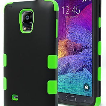 Note 4 Case,    Durable Hybrid Protective Case -  Green Si