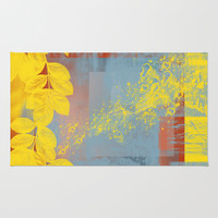 Yellow Leaves Rug by Ramon Martinez Jr