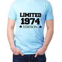 Limited Edition 1974 - Add Your Own Date - Mens 40th Birthday Tshirt - Gift For Boyfriend or Husband 2159