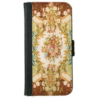 Baroque pattern wallet phone case
