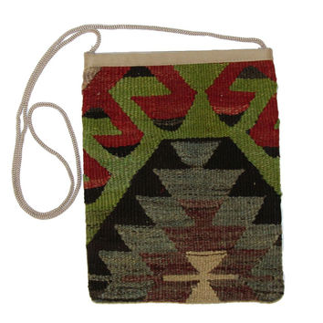 Kenny Multi Diamond Pattern Kilim Bag