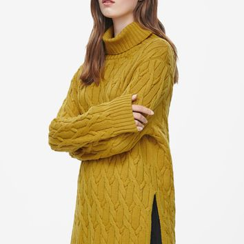 COS Roll-neck cable jumper