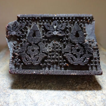 Wood Block // Kalamkari // Vintage Textile Stamp // India