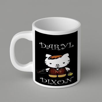 Gift Mugs | Daryl Dixon Hello Kitty Ceramic Coffee Mugs