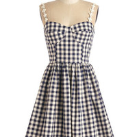 ModCloth Vintage Inspired Mid-length Spaghetti Straps A-line Better Check Yourself Dress