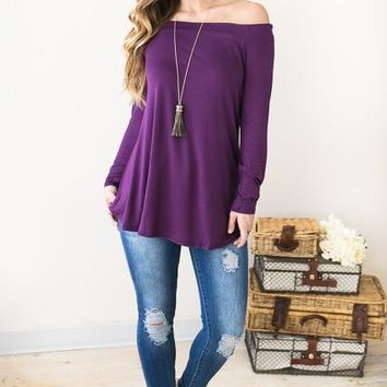 Say It Off Shoulder Tunic