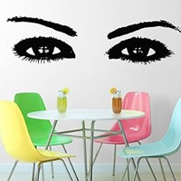 Wall Decals Eyes Decal Vinyl Sticker Beauty Salon Bathroom Home Decor Art Mural Ms305