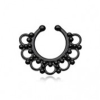 Colorline Majestic Filigree Fake Septum Clip-On Ring
