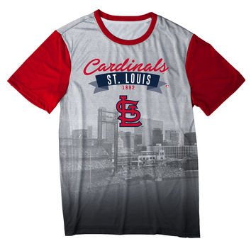 St Louis Cardinals Official MLB Outfield Photo Tee - Mens