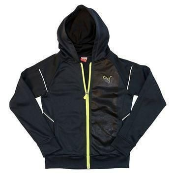 puma french terry tech full zip hoodie boys  number 1