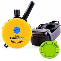 Best Dog Training e Collar - Educator Remote Trainer System - WaterProof - Vibration Tapping Sensation With eOutletDeals Value Bundle