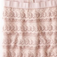 AEO 's Lace Tiered Mini Skirt