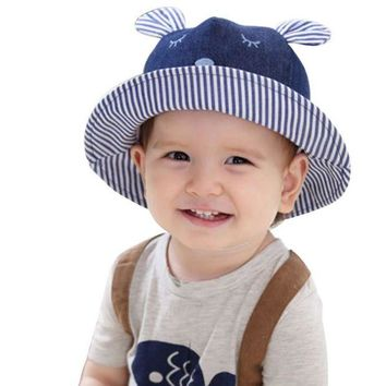 CUPUP9G 2017 1~3 Years Old Toddler Infant Hats Sun Cap Cartoon Summer Outdoor Baby Beach Sun Hat j2