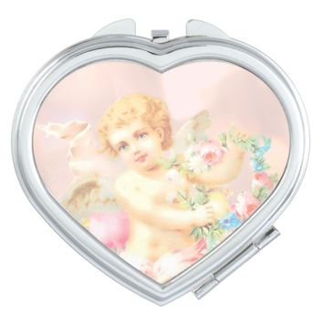 Claire Blossom Cute Angel Pink Vanity Mirror