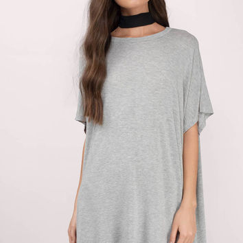 Kirsty Oversized Shark Bite Shift Dress