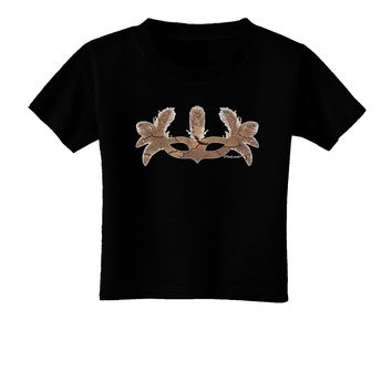 Earth Masquerade Mask Toddler T-Shirt Dark by TooLoud