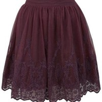 Embroidered Hem Mini Skirt - Skirts - Clothing - Miss Selfridge