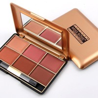 MISS ROSE Brand Bronzer Blush Pallete Makeup Baked Cheek Color Mineralize Blusher Powder Face Blushes 6 Colors 4-27-8