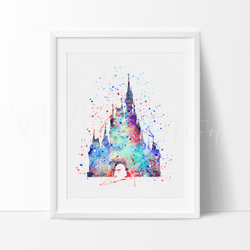 Cinderella Castle Watercolor Art Print
