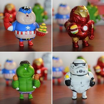 Star Wars Force Episode 1 2 3 4 5 Fat Iron Man Hulk Captain America  Stormtrooper PVC Action Figures Collectible Model Toys 10cm AT_72_6