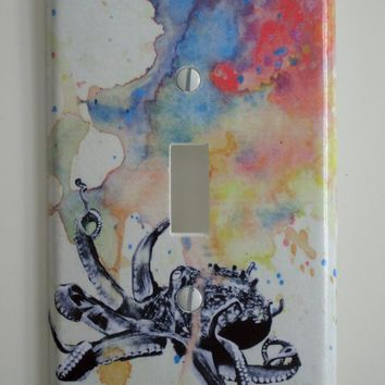 Octopus Decorative Light Switch Plate Cover Made From by idillard