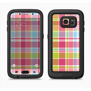 The Yellow & Pink Plaid Full Body Samsung Galaxy S6 LifeProof Fre Case Skin Kit