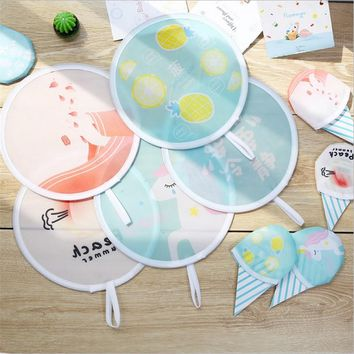 1PC Mini Fruit Letter Ruond Folding Fan Wedding Decoration Baby Shower Hawaii Beach Party Decoration Gifts and Favors for Guests
