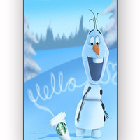 Hello olaf Starbucks for iPhone 4/4S Case **
