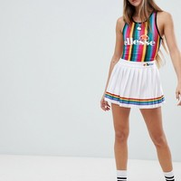 Ellesse Tennis Skirt With Rainbow Pleats at asos.com