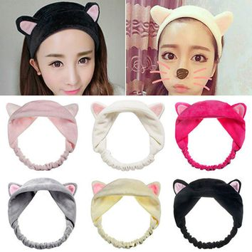 Cat Ears Soft Cotton Ladies Headbands For Women Head Wrap