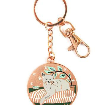 Indoor Cat Keychain