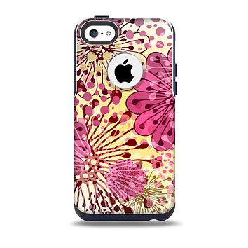 The Colorful Translucent Water-Flowers Skin for the iPhone 5c OtterBox Commuter Case