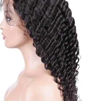 Full Lace Wig| Deeper Wave Curls| 18 To 26 Inches Long Curls