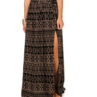 Tribal Print Side Slit
