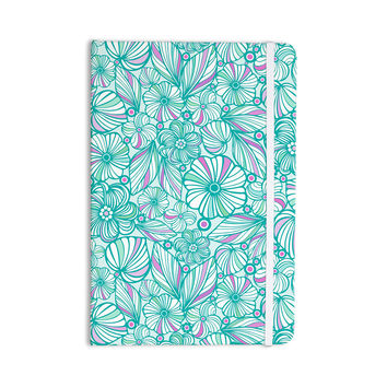 "Julia Grifol ""My Turquoise Flowers"" Teal Pink Everything Notebook"