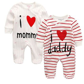 Baby Rompers Body suits Cover Newborn boys girls one-pieces Clothes stripe printed baby winter sleepsuits ropa bebe clothing