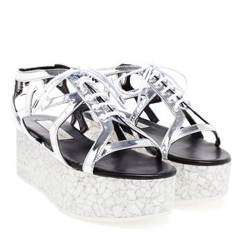 Silver Star Flatforms - STELLA MCCARTNEY