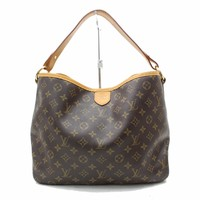 Authentic Louis Vuitton Shoulder Bag Delighful MM M40353 Browns Monogram 15994