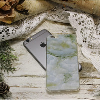 MARBLE iPhone 6, 6S stone design cell phone case - green