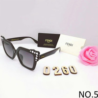 FENDI trendy brand men and women casual sunglasses F-8090-YJ NO.5