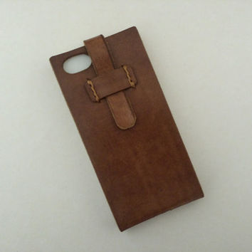 iPhone 5 / 5s Case, Italian Vegetable Tanned Leather Phone Cover 100% Natural Exclusive Color