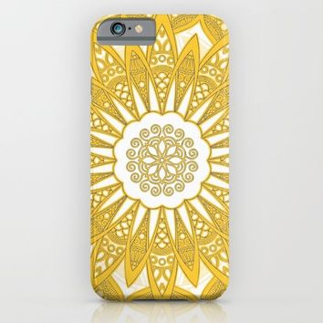 Orange Mandala iPhone & iPod Case by Stefanie Juliette