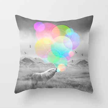 The Echoes of Silence Throw Pillow by Soaring Anchor Designs   Society6