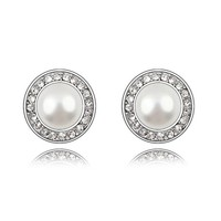 BOXINGCAT Exquisite Swarovski Style Austrian Pearl Studs Earring BGCA5950