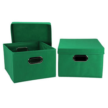 Household Essentials Collapsible Decorative Box With Lid