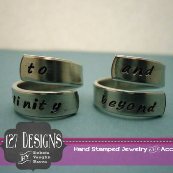 To Infinity and Beyond Disney Toy Story Buzz Lightyear Inspired Twist Adjustable Aluminum Ring
